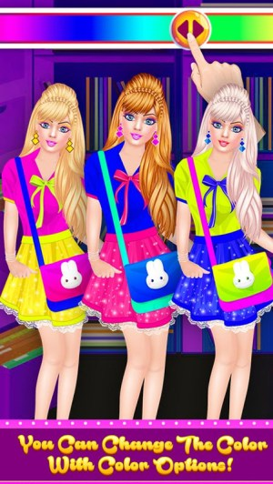 Android Fashion Doll - Back to School Dress Up Game Screen 14