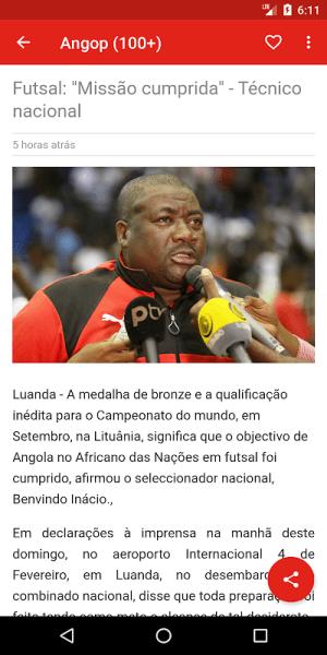 Angola notícias 1.0.5.4 Screen 4
