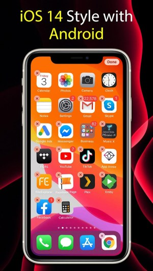 Launcher iOS 14 6.1.7 Screen 2