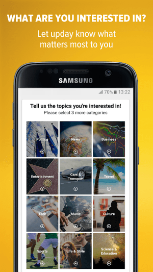 upday news for Samsung 2.5.13446 Screen 1