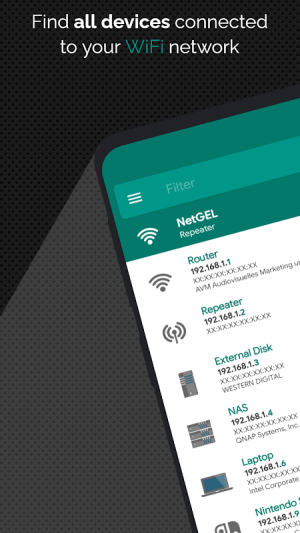 Android NetX Network Tools Screen 2