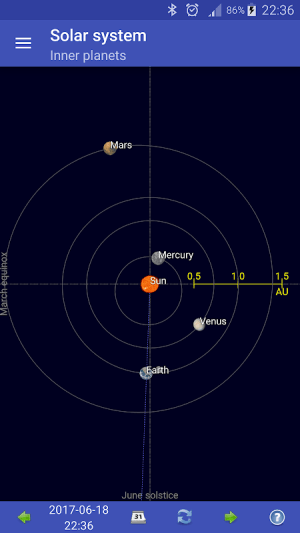 Sun, moon and planets 1.6.3e Screen 1