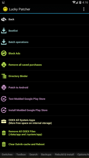 Android Lucky Patcher Screen 1