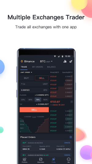Android BitUniverse - Crypto Portfolio & Grid Trading Bot Screen 2