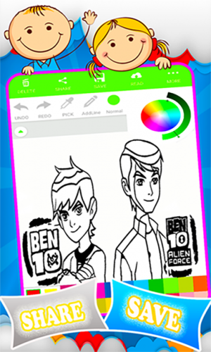 Android Coloring Ben 10 Games Screen 4