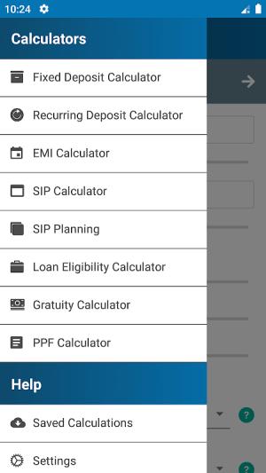 FD Calculator (EMI, SIP, RD, Loan, Gratuity & PPF) 4.0 Screen 1