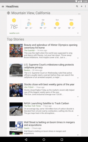 Google News & Weather 2.8.5 (136063537) Screen 6