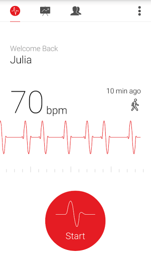 Cardiograph - Heart Rate Meter 4.1.2 Screen 1