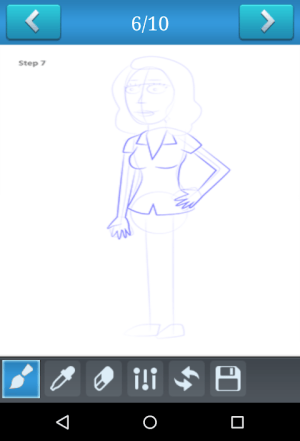 Android How to Draw Rick and Morty Screen 3