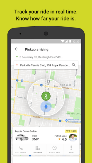 Ola cabs - Taxi, Auto, Car Rental, Share Booking 4.5.6 Screen 2