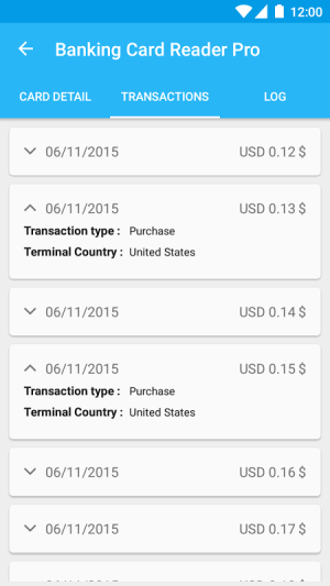 Pro Credit Card Reader NFC 4.2.5 Screen 2