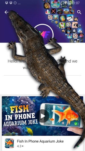 Android Crocodile in Phone Big Joke Screen 1