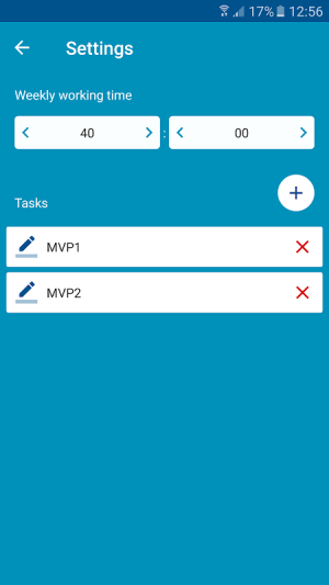 Android Time report Employee Timesheet Screen 4