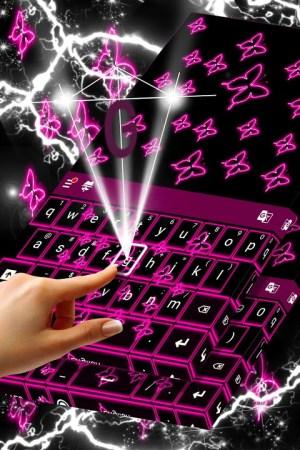Neon Butterflies Keyboard 1.307.1.155 Screen 2