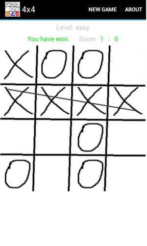 Android Tic-tac-toe 3-4-5 Screen 1