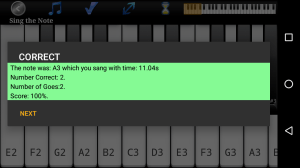 Voice Training - Learn To Sing Added Pitch Accuracy Screen 1