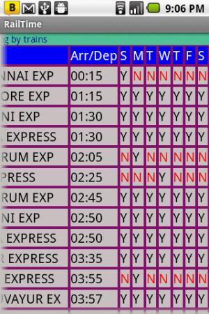IndianRailway Offline TimeTabl 1.041 Screen 4