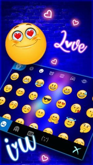 Love Heart Neon Keyboard Background 4.0.A Screen 4