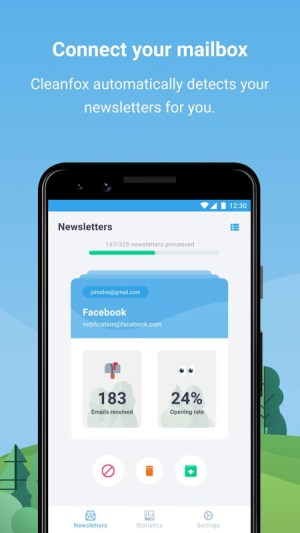 Cleanfox - Clean Up Your Inbox (Gmail, Hotmail...) 3.4.4-102 Screen 1