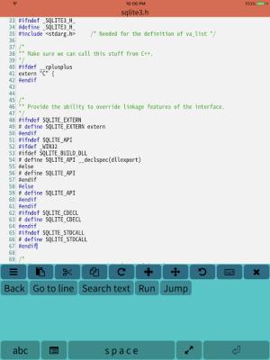 Mobile C ( C/C++ Compiler ) 2.2.5 Screen 7