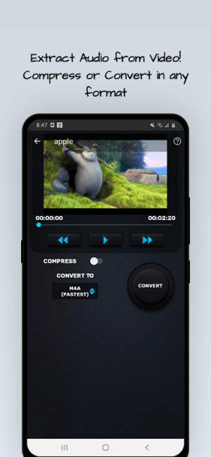 MP4, MP3 Video Audio Cutter, Trimmer & Converter 0.4.1 Screen 1