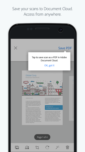 Adobe Scan: PDF Scanner, OCR 17.11.14 Screen 1