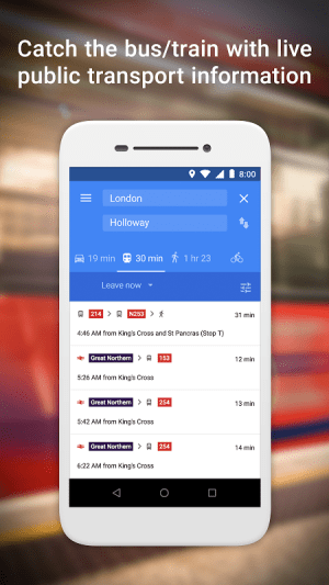 Google Maps Go - Directions, Traffic & Transit 82 Screen 2