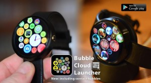 Bubble Cloud Tile Launcher Watchface (WearOS) 9.70 Screen 5