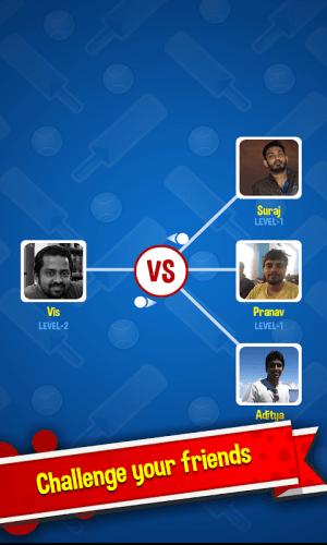 Android Cricket Rockstar : Multiplayer Screen 1