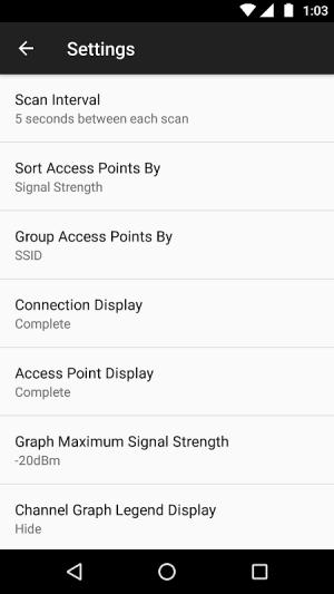 WiFi Analyzer (open-source) 2.1.1 Screen 11