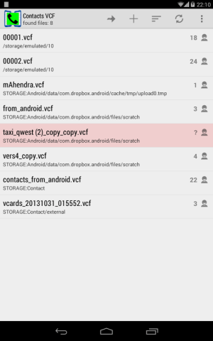 Contacts VCF 3.0.0 Screen 13