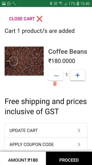 Vegshopper mobile app for vegetables sales online 5.1.11 Screen 8