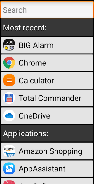 Android BIG Launcher Screen 14