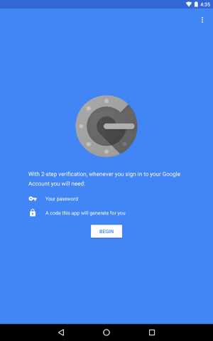 Google Authenticator 2.15 Screen 10