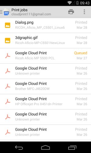 Cloud Print 0.9.2 Screen 29
