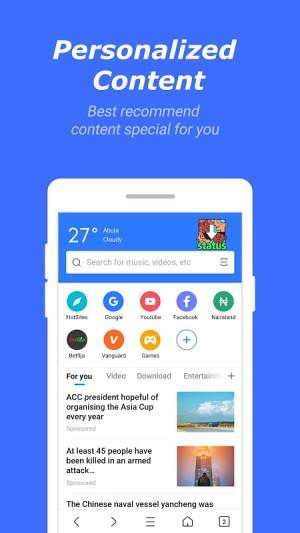 Bang Browser-All Video downloader & Ad blocker 4.1.0.3160 Screen 4