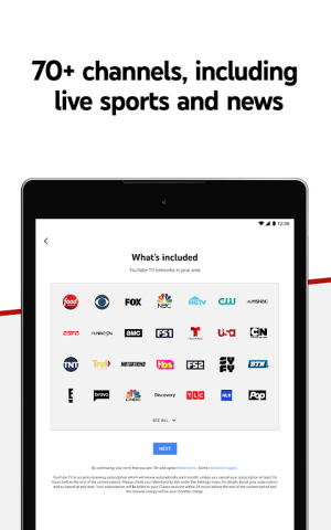 Android YouTube TV - Watch & Record Live TV Screen 12