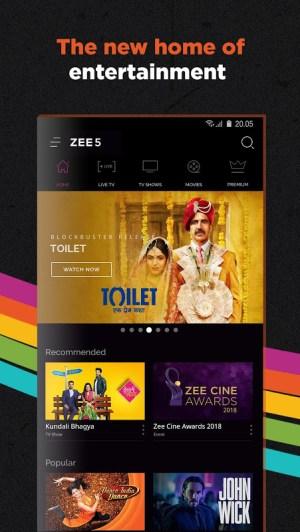 ZEE5 - Movies, TV Shows, LIVE TV & Originals 11.2.129 Screen 1
