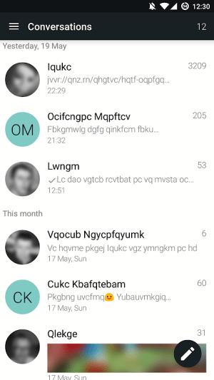 YAATA - SMS/MMS messaging 1.44.7.21808 Screen 1