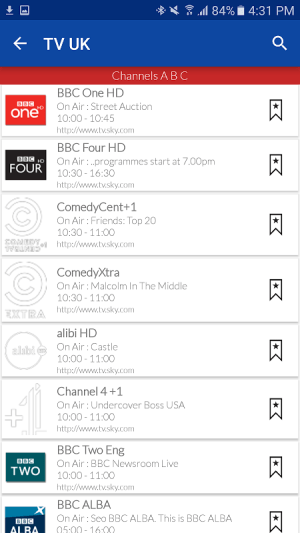 UK Live TV Guide 1.0 Screen 2