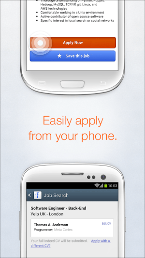 Android Indeed Job Search Screen 2