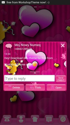GO SMS Pro Theme lovely pink 3.5 Screen 3