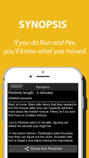RunPee. 5.2.03 Screen 3