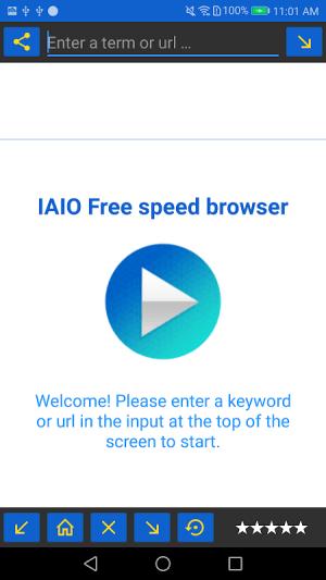 IAIO Free speed browser Descargar música gratis 11.0 Screen 3