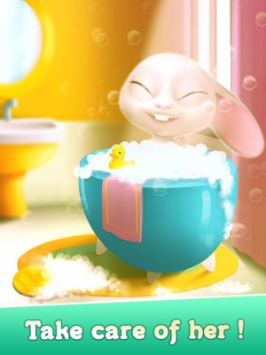 Android Bu the Baby Rabbit - Virtual pets care game Screen 3
