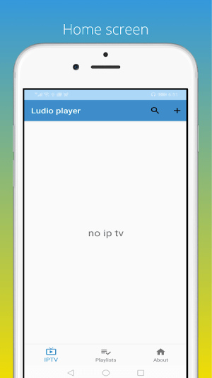 Android Ludio player for IPTV Screen 3