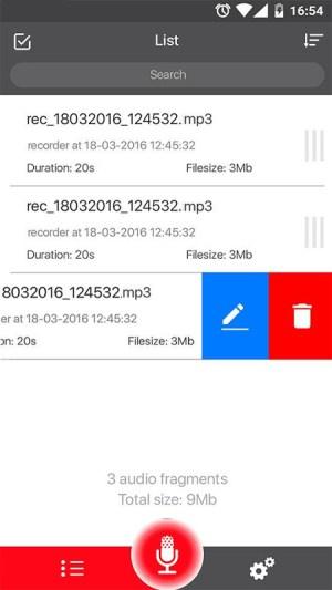 Voice Recorder 45 Screen 3