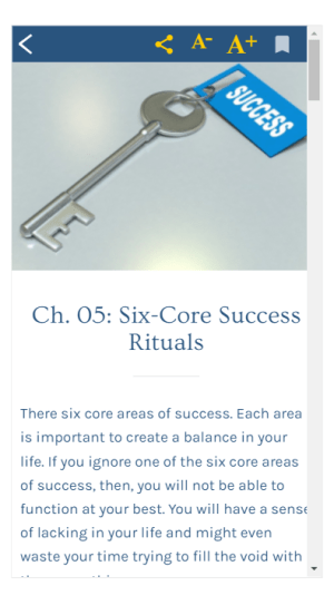 Success Rituals 1.0 Screen 2