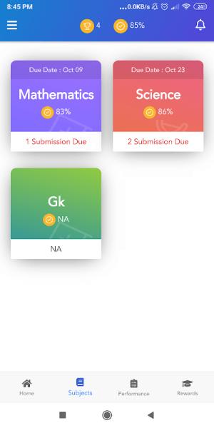 OAKS Student 0.0.35 Screen 4
