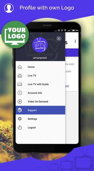 IPTV Smarters 4.3.8 Screen 1